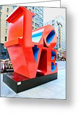 The Love Sculpture Greeting Card by Paul Ward