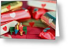 The Lovers In Valentine's Day Greeting Card
