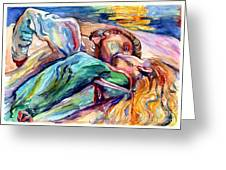 The Lovers Watercolor Greeting Card