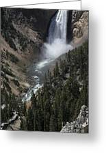 The Lower Falls Greeting Card