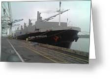 The Lowlands Patrasche Ship At Port In Portland Oregon Greeting Card