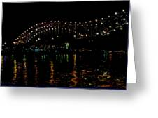 The M Bridge Greeting Card