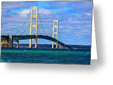 The Mackinac Bridge Greeting Card