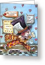 The Mad Hatter - In Court Greeting Card