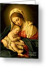 The Madonna And Child Greeting Card by Il Sassoferrato