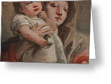 The Madonna And Child With A Goldfinch Greeting Card