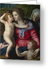 The Madonna And Child With Saints Greeting Card