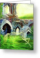 The Magic And Majesty Of Corfe Castle Greeting Card