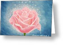 The Magical Pink Rose Greeting Card
