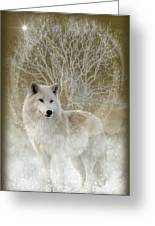 The Magical Wolf Greeting Card