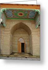 the main entrance, doorway, door, Asia Greeting Card