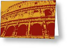 The Majestic Colosseum Of Rome Greeting Card