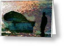 The Man And His Fishing Boat Greeting Card