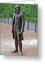 The Man Behind Monticello Greeting Card