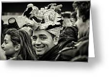 The Man In The Dragon Hat Greeting Card