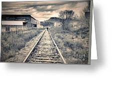 The Man On The Tracks Greeting Card