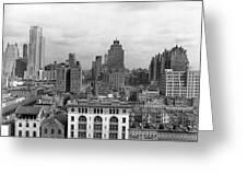 The Manhattan Skyline Greeting Card
