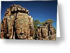 The Many Faces Of Bayon Temple, Angkor Thom, Angkor Wat Temple Complex, Cambodia Greeting Card