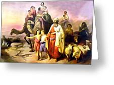 The March Of Abraham Greeting Card