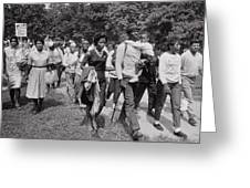 The March On Washington  Freedom Walkers Greeting Card