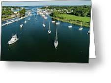 The Marina In Mamaroneck Greeting Card