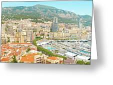 The Marina In Monaco Greeting Card