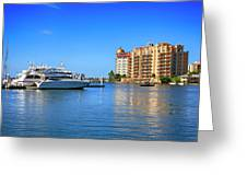 The Marina Sarasota Fl Greeting Card