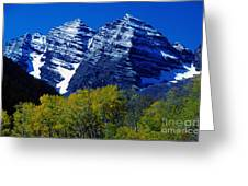 The Maroon Bells Aspen Colorado Greeting Card