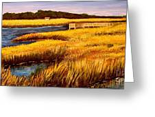 The Marsh At Cherry Grove Myrtle Beach South Carolina Greeting Card