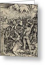 The Martyrdom Of St. Catherine Of Alexandria Greeting Card