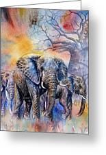 The Masai Mara Elephants Greeting Card