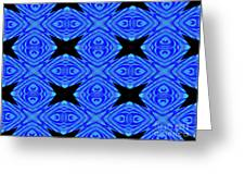The Mask Masquerading In Blue Greeting Card