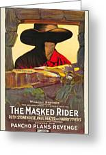 The Masked Rider 1919 Greeting Card