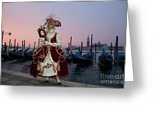 The Masks Of Venice Carnival Greeting Card