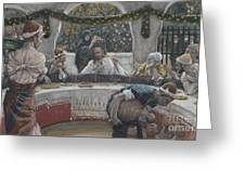The Meal In The House Of The Pharisee Greeting Card by Tissot