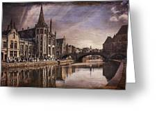 The Medieval Old Town Of Ghent  Greeting Card