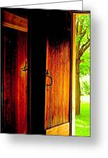The Meeting House Door Greeting Card