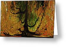 The Melting Tree Greeting Card
