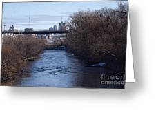The Menomonee Near 33rd And Canal Streets Greeting Card