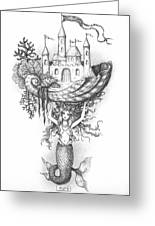 The Mermaid Fantasy Greeting Card