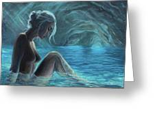 The Mermaid Of The Blue Cave Greeting Card
