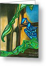 The Mermaid On The Window Sill Greeting Card
