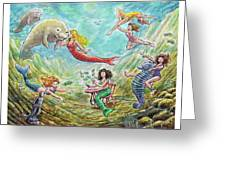 The Mermaids Of Weeki Wachee State Park Greeting Card