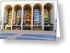 The Metropolitan Opera House Greeting Card