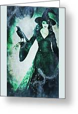 The Midnight Garden Witch Greeting Card