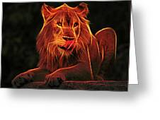 The Mighty Lion Greeting Card