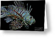 The Mighty Lion Fish Greeting Card