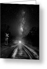 The Milky Way Express Greeting Card