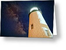The Milky Way Over Pemaquid Point Greeting Card