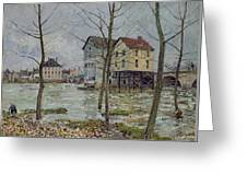 The Mills At Moret Sur Loing Greeting Card